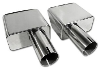 1968-1982 Corvette C3 Exhaust Tips & Bezels
