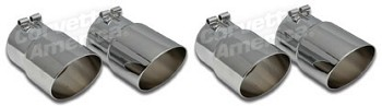 1985-1991 Corvette C4 Exhaust Extensions Angle Cut 4pc Set