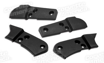 1978-1982 Corvette C3 Seat Hinge Covers 4 Piece Set - Unpainted