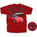 C5 Corvette Red Men's Tee Shirt