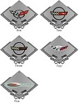 Corvette C4 C5 Metal Carbon Fiber Style Signs