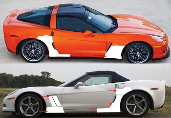 C6 Corvette 2005-2013 Base / Z06 / Grand Sport Lamin-X Paint Protection - Pre Cut FULL KIT