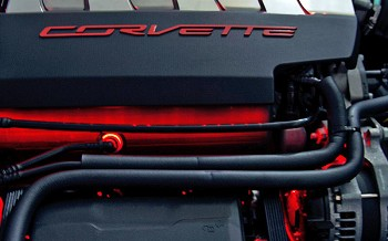 C7 Corvette Stingray 2014+ LED Strip Lighting - Fuel Rail Covers