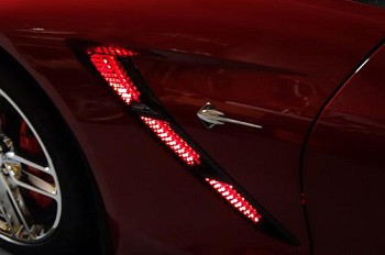 C7 Corvette Stingray/Z06 2014+ LED Strip Lighting - Side Fender Vents