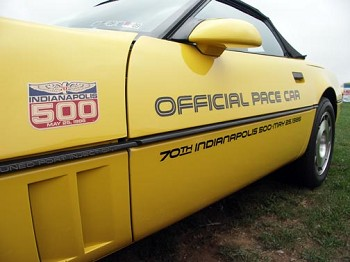1986 Corvette C4 Pace Car Door Decal Kit