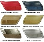 1978-1982 Corvette C3 Door Panels with Felt