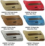 1970-1976 Corvette C3 Deluxe Door Panels w/ Walnut or Teak Insert