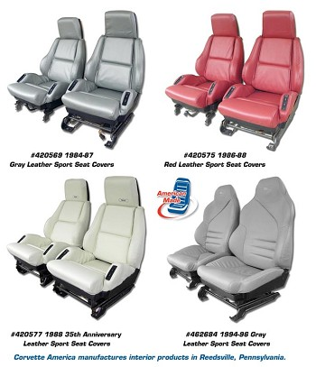 1984-1996 C4 Corvette Leather, Leather Like, and Mid Level Leather Sport Seat Covers