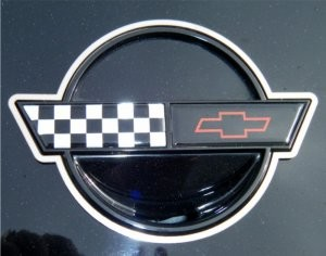Corvette Emblem Trim Rings Polished 2Pc 1987 and 1989-1990 C4