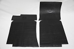 C3 Corvette 1970-1982 Rubber Floor Mats - Black w/ Logo