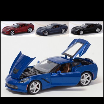 Corvette C7 Stingray 2014+ Diecast Model 1:24/1:18