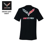 C7 Corvette Z06 2015+ Crossed Flags Logo W/ Script Tee
