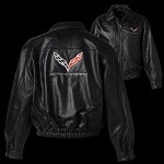 C7 CORVETTE STINGRAY MEN'S LEATHER BOMBER JACKET