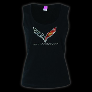 C7 Corvette Stingray 2014+ Rhinestone Tank Top