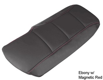 C6 Corvette Leather Console Cushions - Accent Stitched