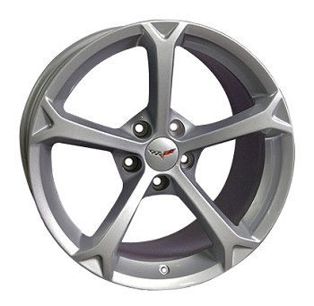 Corvette C6 (2) 18x9.5 and (2) 19x12 Silver Grand Sport Wheels