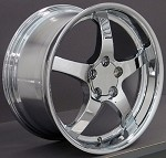 Corvette C4 84-96 Chrome OEM Deep Dish Style Wheels 18x9.5/19x10