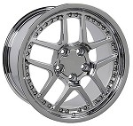 Corvette C5/C4 97-04 84-96 Fitments Corvette Deep Dish 17x9.5/18x10.5 Chrome Z06 Wheels