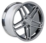 "Corvette C5/C4 97-04 84-96 Fitments C6 Z06 Style Wheels COMPLETE SET 17"" 18"" 19""- Chrome, Black, Silver"