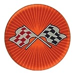 C3 1968 - 1982 Corvette Orange Cross Flag Wheel Decals