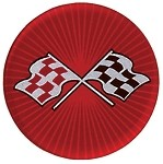 C3 1968-82 Corvette Red Cross Flag Wheel Decals Complete Set