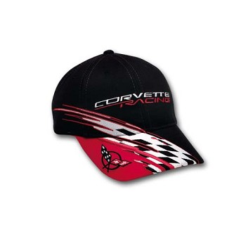 C5 Corvette 1997-2004 Racing Checkered Bill Cap- Black