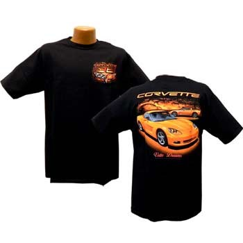C6 Corvette Orange Vette Dreams T Shirt