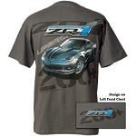 ZR1 Corvette C6 Charcoal Gray Screen Printed Tee Shirt