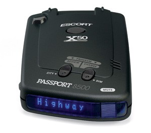 Escort PASSPORT 8500 X50 Laser and Radar Detector, Blue Display