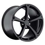 Corvette C6 05-13 Grand Sport Style Wheel Set Gloss Black 18x9.5/19x12
