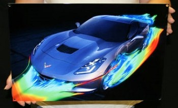 Corvette 2014+ C7  STINGRAY GRAY WIND TUNNEL METAL SIGN