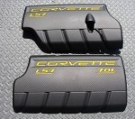 Corvette C6 LS7 GM Fuel Rail Covers in Carbon Fiber Look