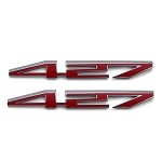 C6 Corvette GM 427 Script Hood Emblems