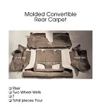 C4 Corvette 1993-1996 Coupe/Convertible Carpet Set - Rear With Pad Options
