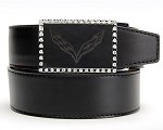 C7 Corvette Stingray 2014+ Etched Leather Belt With Jewels