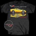 C6 Corvette 2005-2013 Corvette Racing Reflection T Shirt-  Black