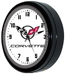 1997-2004 C5 Corvette Crossed Flags Logo Neon Clock - 20in