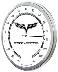 2005-2013 C6 Corvette 60th Anniversary and Centennial Thermometers - 14in