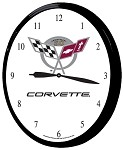 1997-2004 C5 Corvette Clocks - Crossed Flags Logo & 50th Anniversary - 14in
