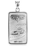 C5 C6 Corvette 1997-2013 Anniversary Ingot Pendants - 14K Gold or Sterling Silver