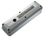C3 Corvette 1968-1982 Small Block Polished Aluminum Valve Cover -2 Piece - Raised Bowtie and Chevrolet