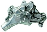 C3 Corvette 1968-1982 Small Block High Flow Mechanical Water Pump - Polished Aluminum - Long