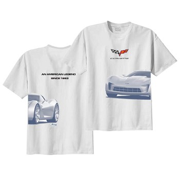 2010 C6 Chevrolet Corvette Stingray Wrapped Tee Shirts
