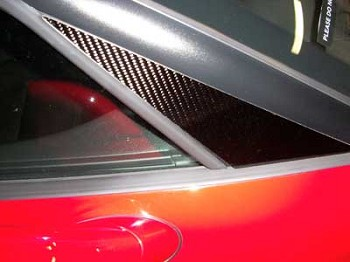 Corvette C5 97-04 Real Carbon Fiber A-Pillar Overlays