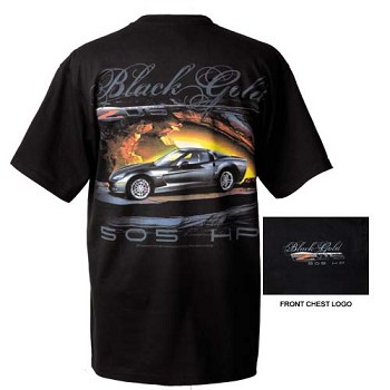 C6 Corvette 2006-2013 Z06 Black / Gold T-Shirt