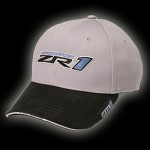 ZR1 C6 CORVETTE SUPERCHARGED TWO-TONE CAP -SILVER/BLACK