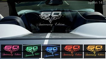 Corvette C6 Wind Restrictor® - Laser Etched & Illuminated 60th Anniversary Edition 2013