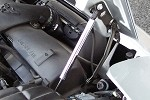 Corvette C6 HOOD SHOCKS CHROME-PLATED COVERS (2)