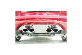 Corvette C5 97-04 Exhaust Filler Panel Solid Polished