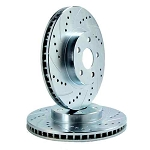 C5 C6 Corvette 1997-2013 Performance Drilled & Slotted Rotors - Optional Ceramic Pads